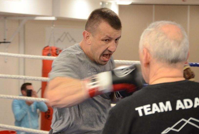 Tomasz Adamek na treningu w Łomnicy /INTERIA.PL