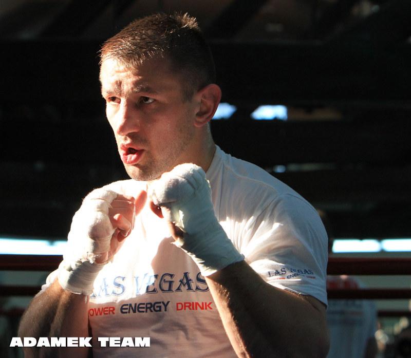 Tomasz Adamek ostro trenuje przed grudniową walką /Adamek Team /RMF FM