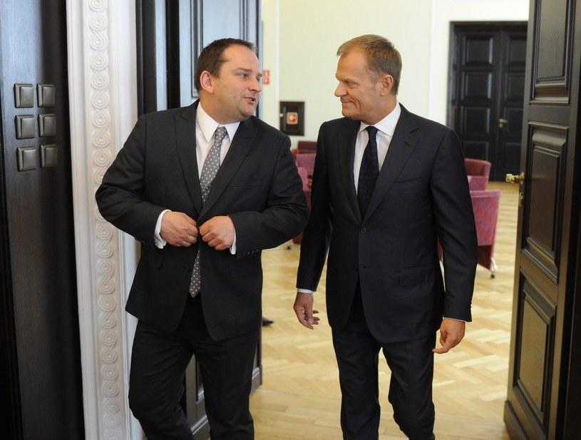 Tomasz Arabski i Donald tusk /Piotr Bławicki /East News