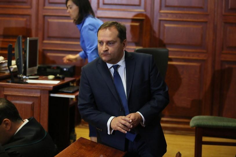 Tomasz Arabski przed sądem /Tomasz Gzell /PAP