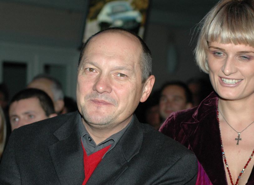 Tomasz Dedek z żoną Magdaleną w 2005 roku /Tricolors /East News