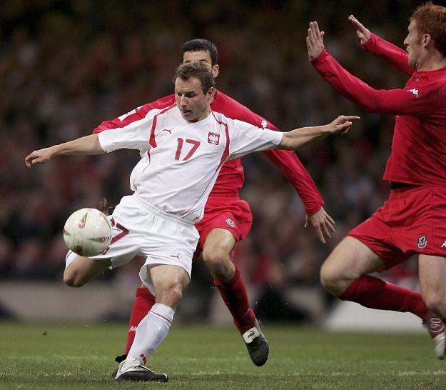 Tomasz Frankowski w meczu z Walią w Cardiff /Getty Images/Flash Press Media