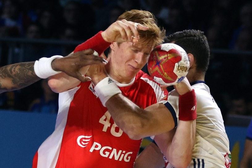 Tomasz Gębala w meczu z Francją /PAP/EPA
