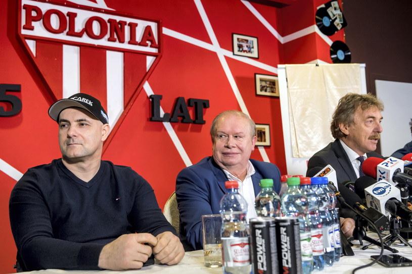 Tomasz Gollob, Jerzy Kanclerz i Zbigniew Boniek /Tytus Żmijewski /PAP