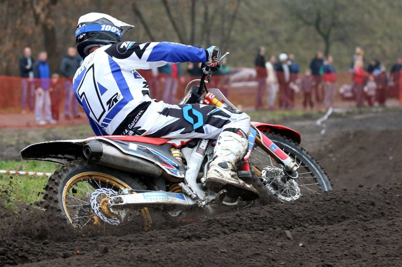 Tomasz Gollob na motocrossie /Newspix