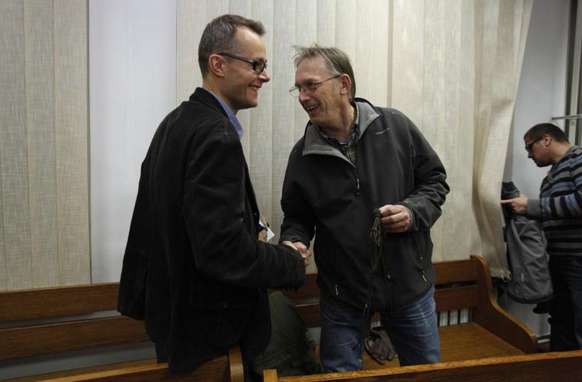 Tomasz Gzell z PAP i Jan Pawlicki z TV Republika /Stefan Maszewski /Reporter