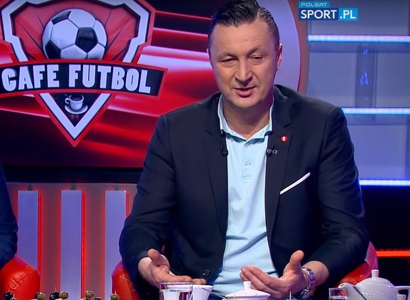 """Tomasz Hajto w programie """"Cafe Futbol"""" /Michał Białoński /INTERIA.PL"""