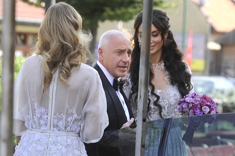 Tomasz i Melody w dniu ślubu /- /AKPA