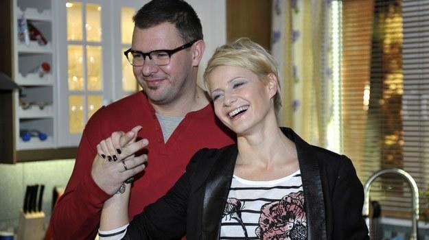 Tomasz Karolak i Małgorzata Kożuchowska na planie nowego serialu /AKPA