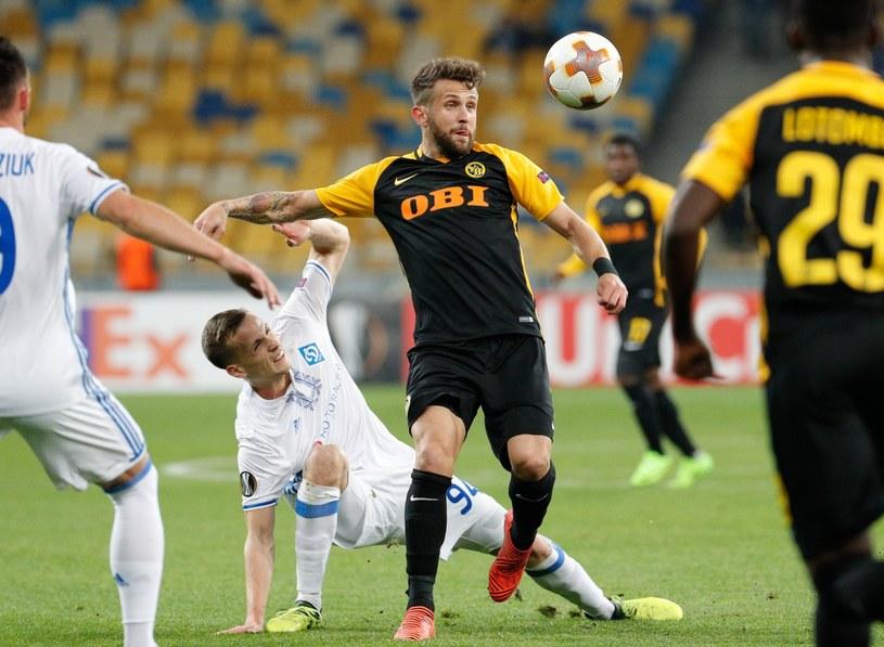 Tomasz Kędziora w meczu z Young Boys Berno /PAP/EPA