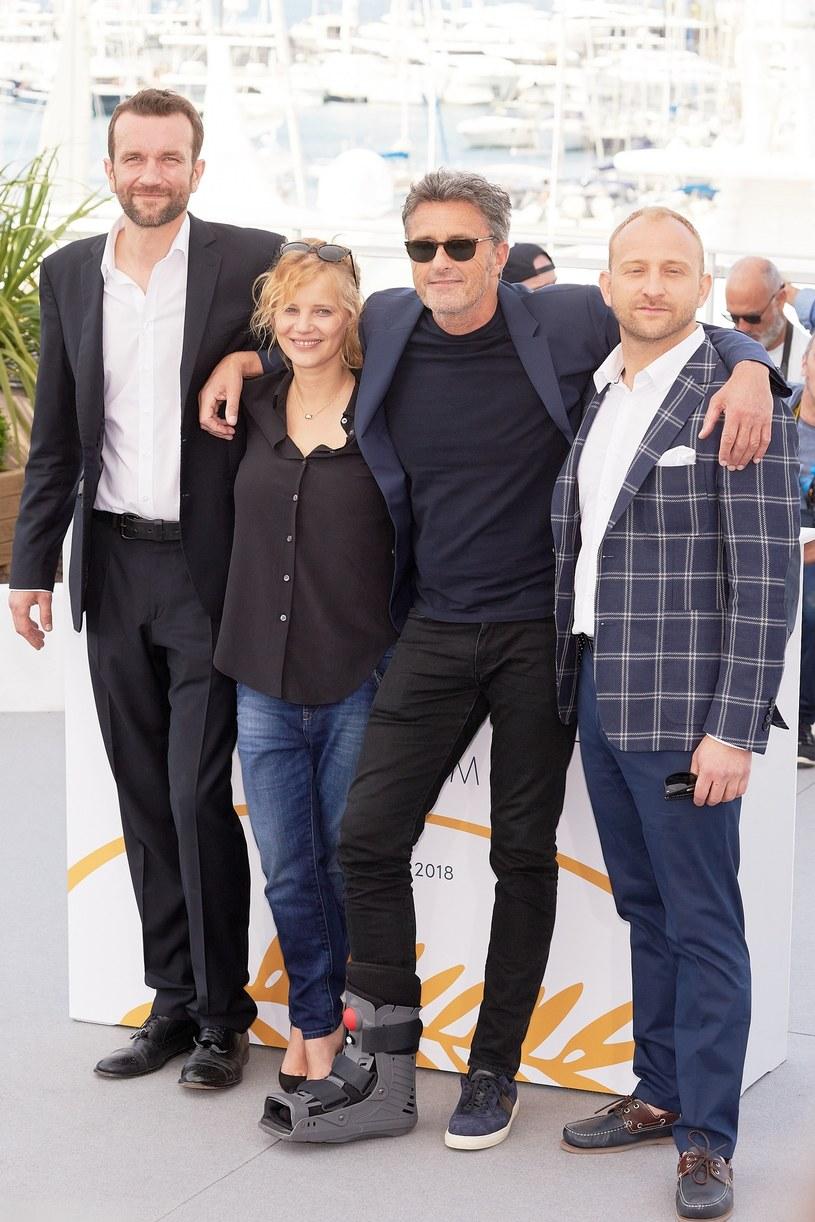 Tomasz Kot, Joanna Kulig, Paweł Pawlikowski, Borys Szyc, fot. Oleg Nikishin /East News