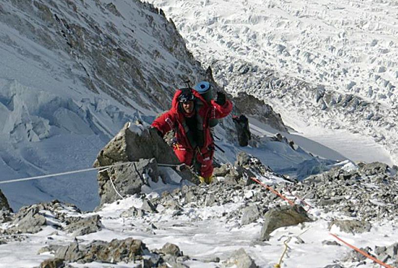 Tomasz Kowalski na stokach Broad Peak /Polski Himalaizm Zimowy /AFP