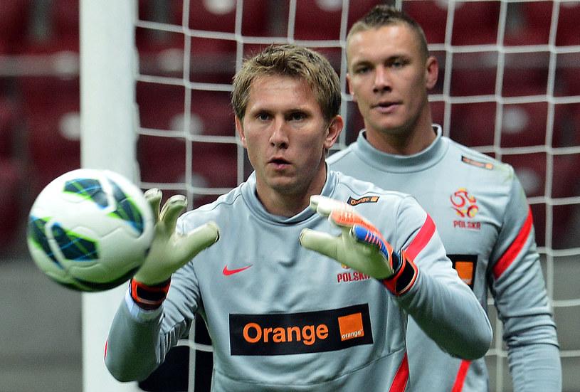 Tomasz Kuszczak podczas treningu reprezentacji Polski /AFP