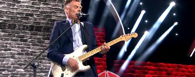 Tomasz Lipiński na festiwalu w Opolu /TVP