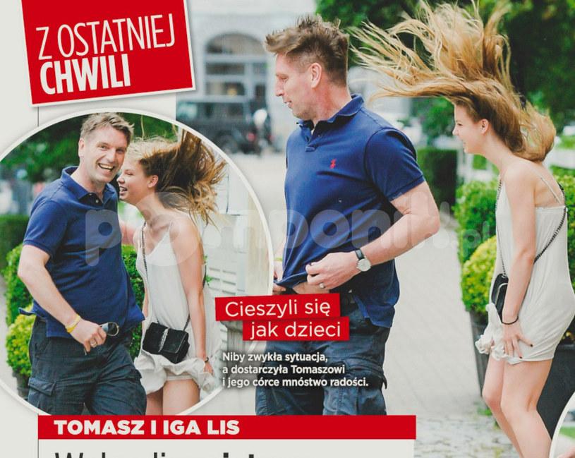 Tomasz Lis chroni córkę przed paparazzi (Źródło: Show) /- /Show