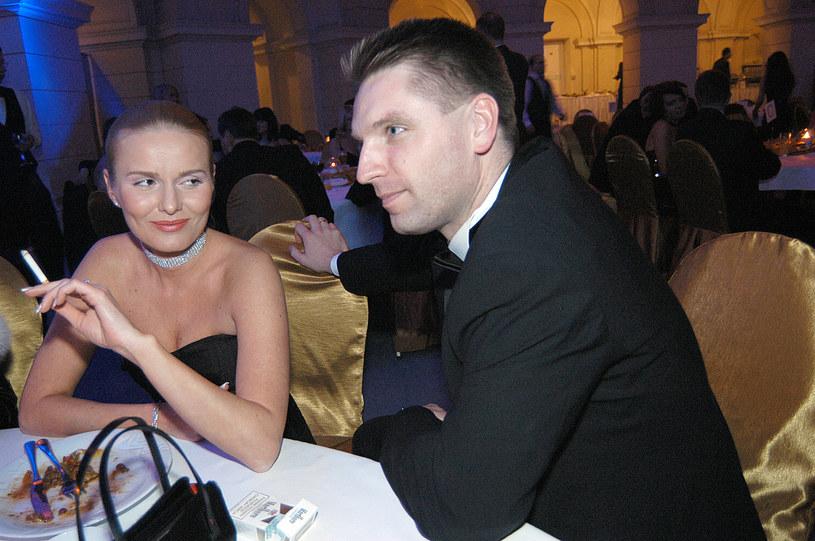 Tomasz Lis i Hanna Lis, wtedy jeszcze Smoktunowicz, w 2004 roku /Warda /AKPA