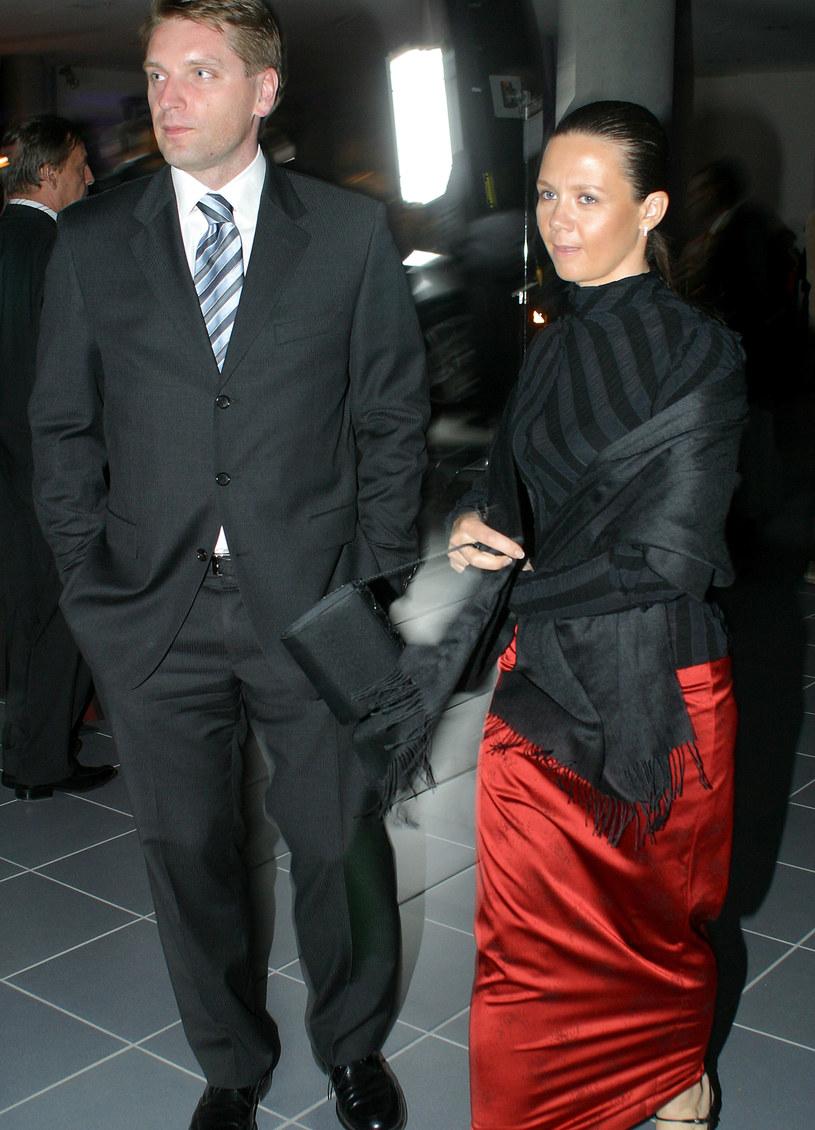 Tomasz Lis i Kinga Rusin, 2004 rok /Rafal Maciaga /Agencja FORUM