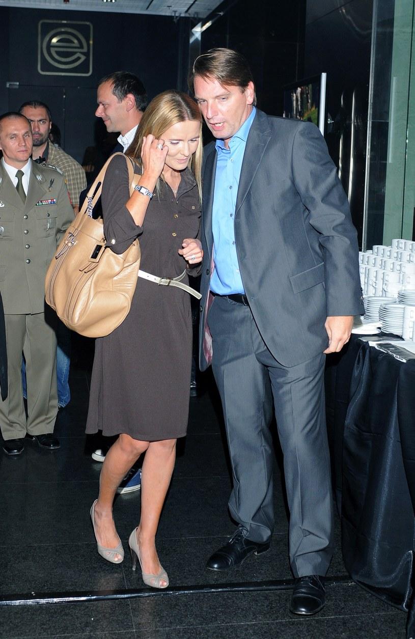 Tomasz Lis z żoną Hanną /MWMedia