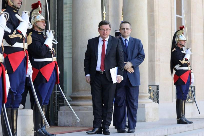 Tomasz Młynarski (na pierwszym planie) /AFP