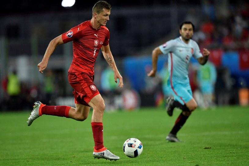 Tomasz Necid podczas meczu Czechów na Euro 2016 /AFP