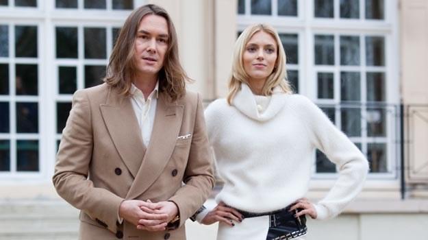 """Tomasz Ossoliński i Anja Rubik na planie """"Project Runaway"""". /TVN"""