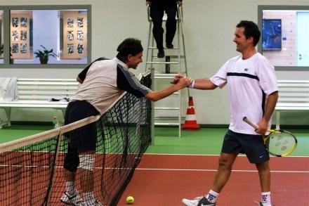 Tomasz Plata (z lewej) i Rafał Jaworski w chwilę po zakończeniu finału, Fot. Tomasz Barański /Super Express