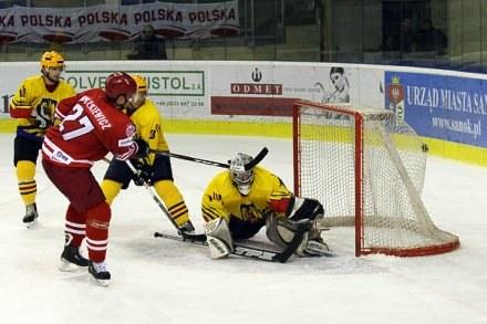 Tomasz Proszkiewicz strzela gola Polski w meczu z Rumunią. Fot. Tadeusz Bącal /INTERIA.PL