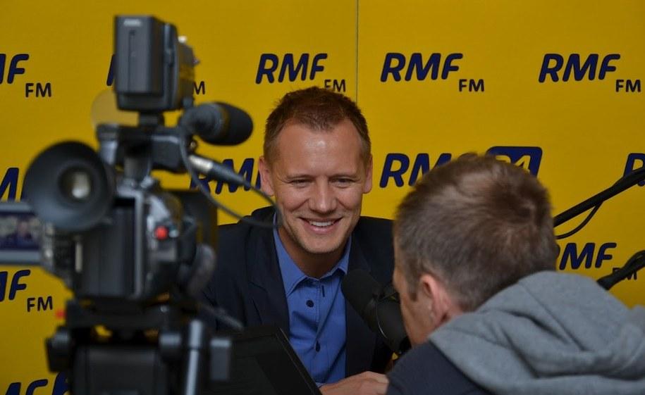 Tomasz Rząsa i Konrad Piasecki w studiu RMF FM w Hyacie  /Michał Dukaczewski /RMF FM