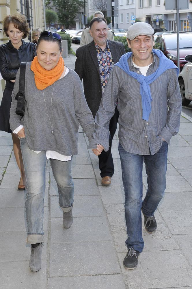Tomasz Sapryk z żoną Alicją /Niemiec /AKPA
