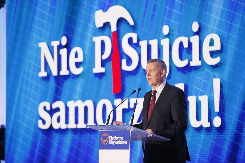 Tomasz Siemoniak w czasie Rady Krajowej PO /fot. Andrzej Iwanczuk /Reporter