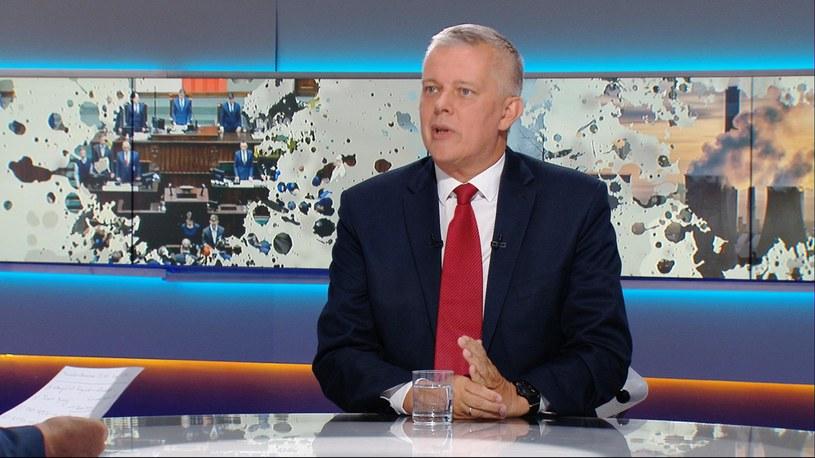"Tomasz Siemoniak w ""Graffiti"" /Polsat News /Polsat News"