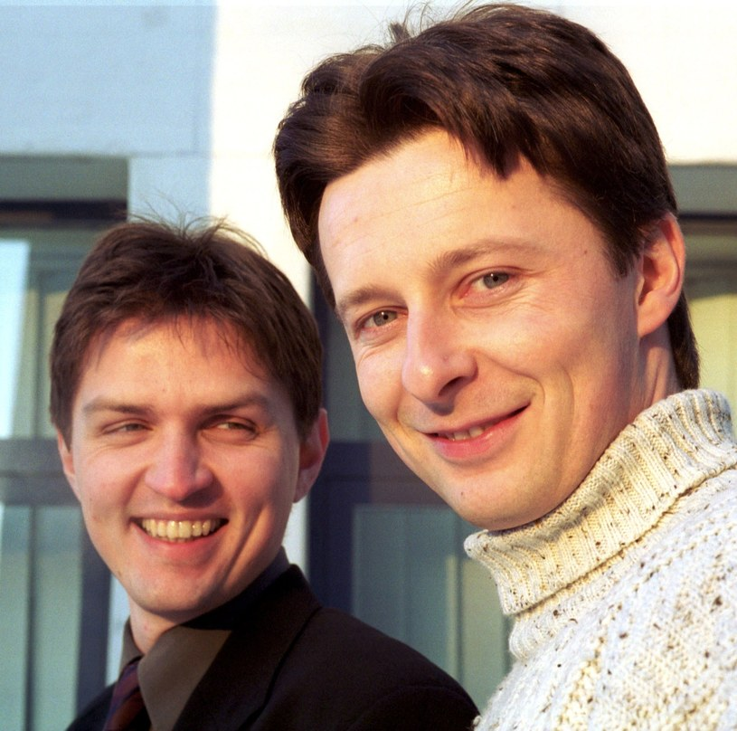 Tomasz Smokowski (z lewej) i Andrzej Twarowski w 2002 roku /Artur Pawłowski /Reporter
