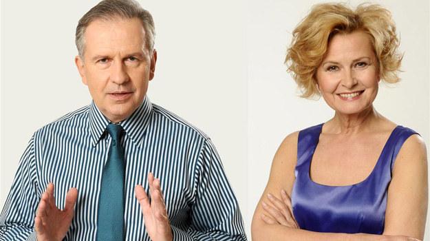 Tomasz Stockinger i Barbara Bursztynowicz to jedna z dwuosobowych drużyn, które potwierdziły już swój udział w Wielkim Teście o Telewizji. /Agencja W. Impact