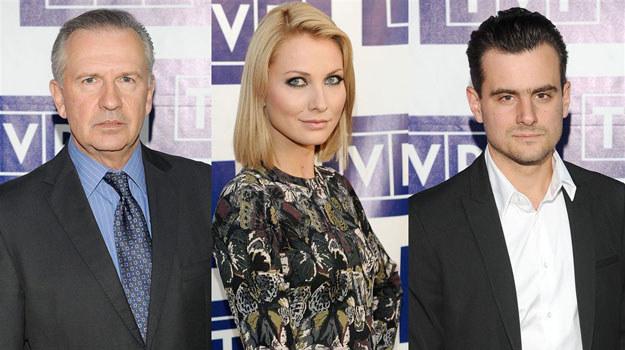 Tomasz Stockinger, Joanna Moro, Antoni Pawlicki, czyli gwiazdy serialowej ramówki TVP1 /Agencja W. Impact