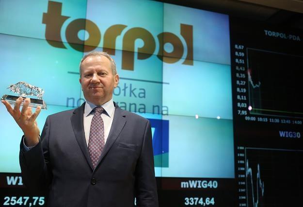 Tomasz Sweklej, prezes Torpol u, na debiucie prawd do akcji na GPW /PAP