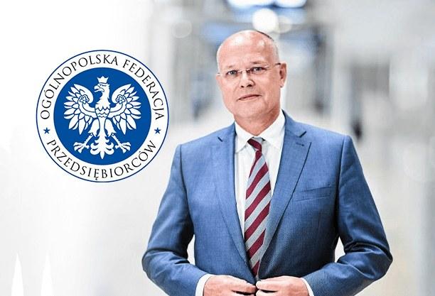 Tomasz Szypuła, prezes PTAK Warsaw Expo i prezes Ogólnopolskiej Federacji Przedsiębiorców (fot. Ogólnopolska Federacja Przedsiębiorców) /