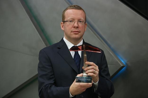 Tomasz Tuora, prezes firmy Orphee, podczas debiutu na NewConnect /PAP