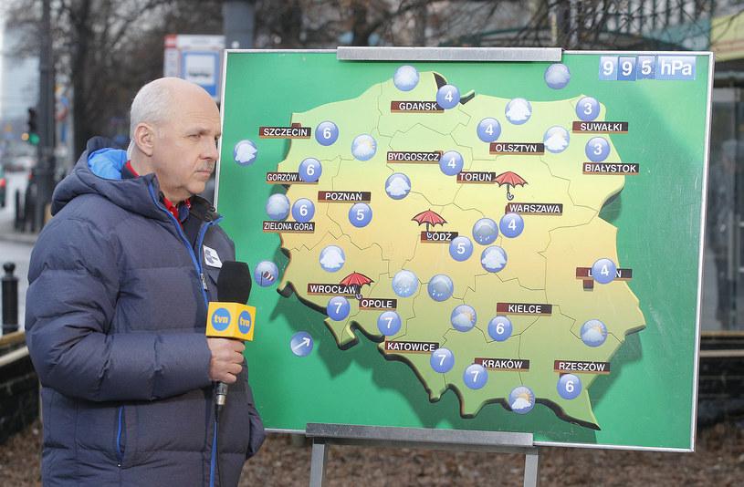 Tomasz Zubilewicz zapowiada pogodę w TVN 24, TVN Meteo, TVN i TTV /AKPA