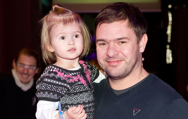 Tomek Karolak z córką Lenką, fot. Jarosław Antoniak  /MWMedia