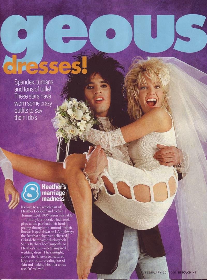 Tommy Lee (1986-93) Piękna i bestia. Tak nazywano ich romans. Przy mężu muzyku Heather mogła dać porwać się młodzieńczym szaleństwom. /In Touch /materiały prasowe