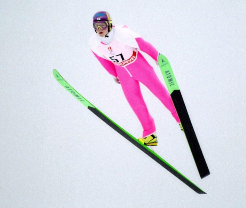 Toni Nieminen podczas igrzysk w Albertville /AFP