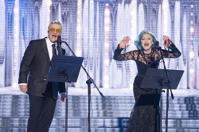 Tony Bennett i Lady Gaga w wykonaniu Krisa Adamskiego i Agnieszki Hekiert /M. Zawada /Polsat
