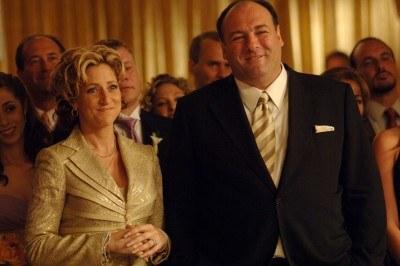Tony Soprano z żoną /