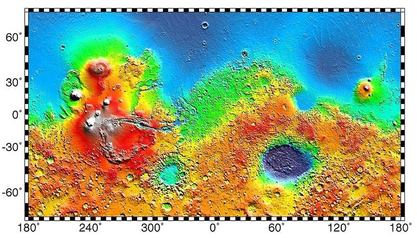Topografia Marsa /Wikimedia Commons /domena publiczna