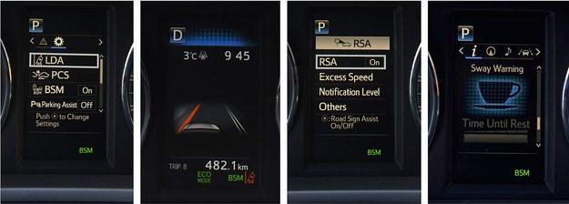 Topowa wersja Toyoty RAV4 seryjnie ma asystentów: pasa (aktywny), martwego pola i świateł drogowych. Ma też aktywny tempomat i układ zapobiegający kolizjom, rozpoznaje znaki i wykrywa zmęczenie kierowcy. /Motor