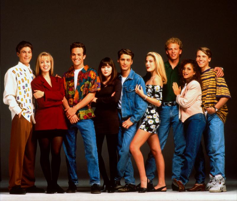 """Tori Spelling spędziła na planie """"Beverly Hills..."""" pełną dekadę, stając się """"ulubioną dziewicą Ameryki"""". /AKPA"""