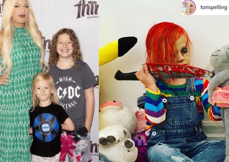Tori Spelling z dziećmi /Instagram