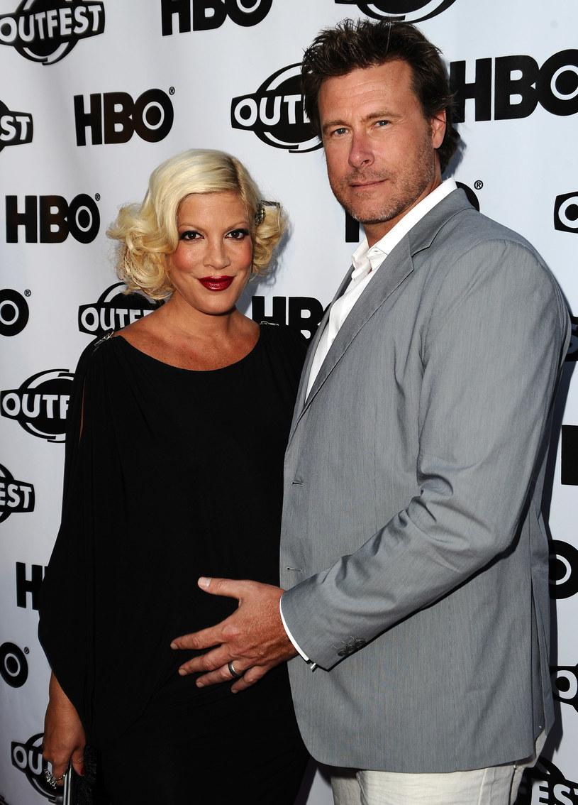 Tori Spelling z mężem /Michael Buckner  /Getty Images