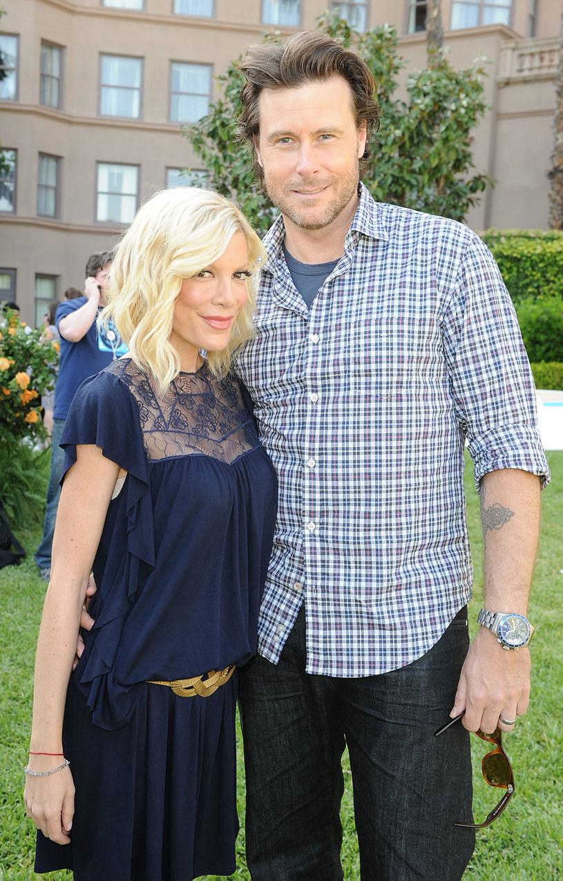 Tori Spelling z mężem /Jason Merritt /Getty Images