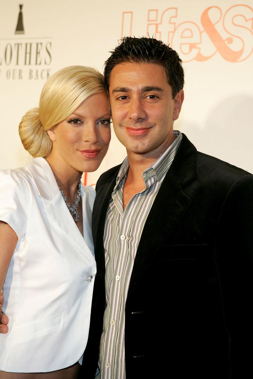 Tori Spelling z pierwszym mężem Charliem Shanianem /Frazer Harrison /Getty Images